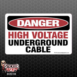 DANGER High Voltage Cable Sticker - OSHA Safety vinyl decal sign warning FE118