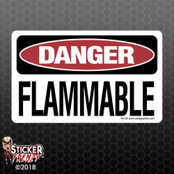 DANGER Flammable Sticker - OSHA Safety vinyl decal sign warning caution FE125