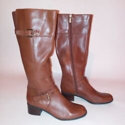 Bandolino Womens Boots Size 6 Brown Side Zip Heel $64.49