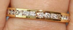 Eternity Band Ring-Channel Set-Gold Plated-2.8mm-Sparkly Clear CZs-1.4grams-NEW