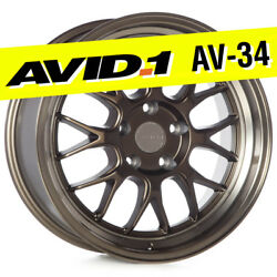 AVID.1 AV-34 17x8 Bronze 5x114.3 +35 Wheels Deep Lip (Set of 4)