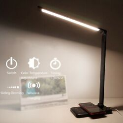 52 LEDs Desk Lamp 5 Color Mode Dimable Touch USB Reading Table Light Eye-Protect