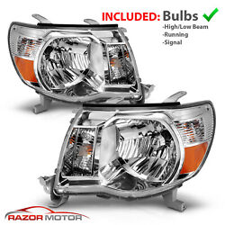 2005-2011 Replacement Chrome Headlight Pair for Toyota Tacoma [TRD Style]