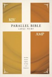Parallel Bible : King James Version Amplified Large Print Red Letter Editi...