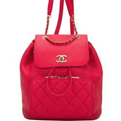 Chanel Red Caviar Business Affinity Backpack