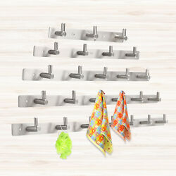 Stainless 34567 Bathroom Kitchen Wall Hanger Hooks For Clothes Holder Silver