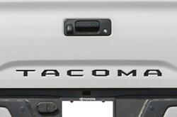 BLACK Tailgate Insert Letters Decal Vinyl Stickers for Toyota Tacoma 2016-20 NEW