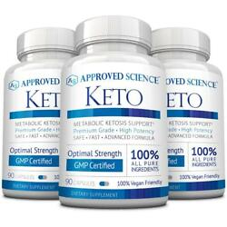 Approved Science Keto Pure Exogenous 4 Ketone Salts and MCT Oil to Boost Ketosis