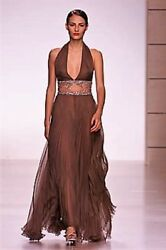 VALENTINO Runway SS 2001 Sexy Embellished Dress Gown IT 42