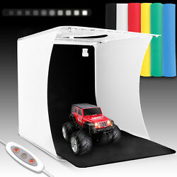 Double LED Light Room Photo Photography Lighting Tent Kit 6 Backdrops Box Cube $19.97
