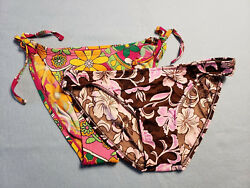 NEW 2 Lot Island Soul Jantzen Ruby Swimsuit Bikini Bottoms Brown Pink Fuchsia L $12.95