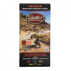 Butler Motorcycle Maps Nevada Backcountry Discover Route: Dual Sport Map