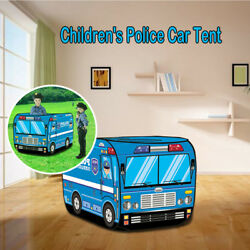New A Police Car Design Tent Happy Time To Play House Outdoor Children Play Tent