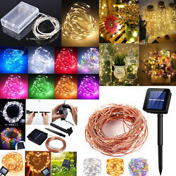 Solar LED String Lights Copper Wire Waterproof Outdoor Fairy LED Decor Garland $7.99