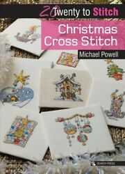 Christmas Cross Stitch Paperback by Powell Michael Like New Used Free shi...
