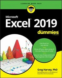 Excel 2019 for Dummies Paperback by Harvey Greg Ph.d. Like New Used Free...