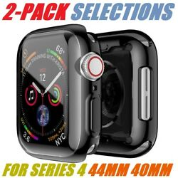 2 Pack For Apple Watch Series 4 44mm 40mm Soft TPU Protective iWatch Case Cover