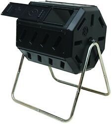 Tumbling Composter Two Chambers Efficient Batch Composting Kitchen Yard Waste $101.99