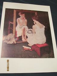 Norman Rockwell GIRL AT THE MIRROR 11.5x15.5 Print - Lot of 21 prints