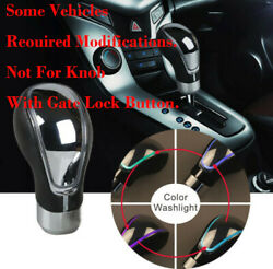Touch Sensitive LED Shifter Car Gear Shift Knob RGB Multi-Color USB Charge DJC A