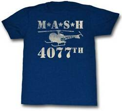 MASH TV Show 4077th Helicopter Adult T Shirt $25.70
