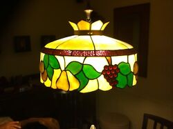 tiffany lamp antique early 1900#x27;s originally table lamp turned into hanging lamp $1200.00