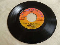 JOAN BAEZ THE NIGHT THEY DROVE OLD DIXIE DOWNWHEN TIME IS STOLEN VANGUARD 35138