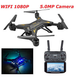 Foldable WIFI Quadcopter Drone with 1080P Camera Selfie Drone Camera Drones New $61.22