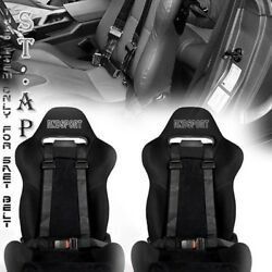 UNIVERSAL 2X JDM TOW 4 POINT RACING SAFETY HARNESS 2