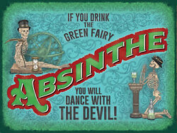 Absinthe The Green Fairy advertising vintage retro signs repro wall art GBP 3.00