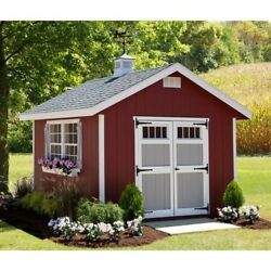 She Shed 10 ft. W x 12 ft. D Wood Woman Cave w Panelized Wall Sections and More