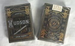 Qty 2 Packs Hudson Black Playing Cards Theory 11 Custom Limited Sealed