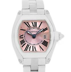 Cartier Roadster Pink Ribbon Breast Cancer Awareness LE Watch W62043V3