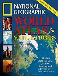 World Atlas for Young Explorers Hardcover National Geographic Society $6.12