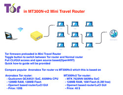 Wi-Fi Tor Router for Internet privacy in travel router(Anonabox alternative)