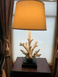 Decorative Three Way Contemporary Lamp White Drift Wood Style $44.95