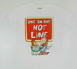 Nickelodeon Rocko#x27;s Modern Life Hot Line Funny White T Shirt New $24 4D1 $14.99