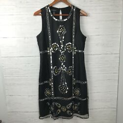 INC BLACK SEQUIN DRESS SIZE 14