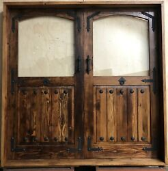 Rustic reclaimed lumber solid Doug Fir laminate glass + hardware clavos IN STOCK