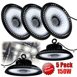 5x 150W LED High Bay Light Warehouse Fixture Factory Commercial Lighting 6000K