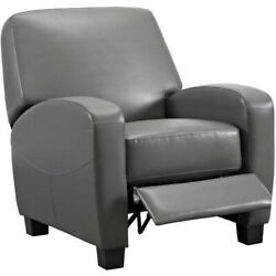 Home Theater Recliner Gray Great for Man Cave Living Room or She Shed Furniture