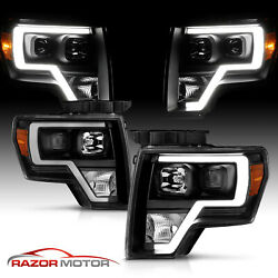 2009-14 Black Headlights pair For Ford F150 [LED Bar] Driver And Passenger $244.38