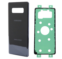 Replacement Glass Back Cover w Adhesive for Samsung Galaxy Note 8 N950 Black $6.99