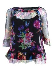 INC International Concepts Women's Floral-Print Illusion Top
