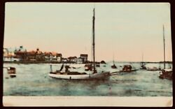 NEW JERSEY Sail Boats at Anchor~Highlands Beach~Divided Back Postcard Sent 1908
