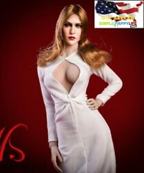 1 6 white party evening dress for 12quot; female figure Hot toys Phicen kumik ❶USA❶ $26.24