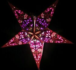 24quot; Pink Paper Star Hanging Lantern Lamp Light Cord Is Included #15 $23.99