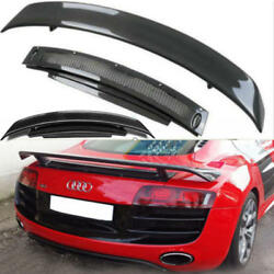 Car Wing Tail Aerofoil Carbon Fiber Auto Spoiler For Audi R8 V8 V10 GT Retrofit