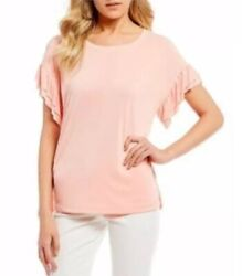 Jessica Simpson Trendy Plus Size Olympia Top 2X Coral Cloud $24.99