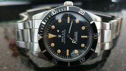 Vintage Rolex Submariner 5508 James Bond  Stainless Steel 1958